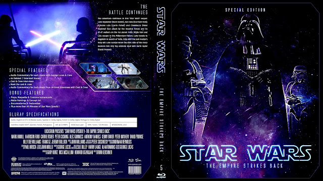 Star Wars: Episode V - The Empire Strikes Back Bluray Cover