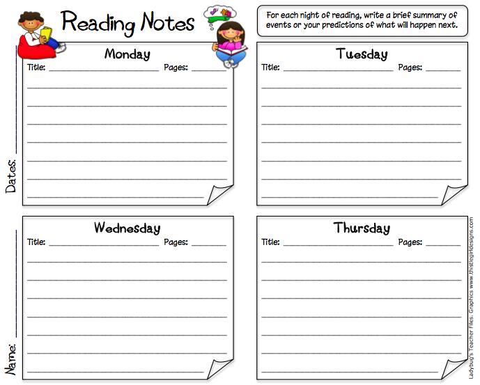 reading log middle school template labels for reading response. as ...