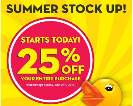 Bath & Body Works Semi Annual Summer Stock Up 25% Off Coupon