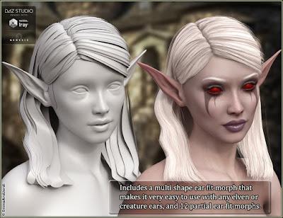 Samantha Hair For Genesis 3 Female