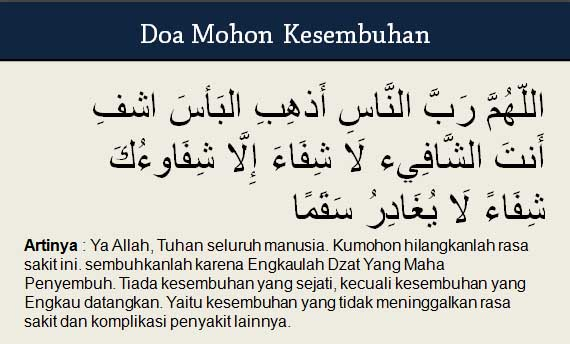Doa Mohon Kesembuhan