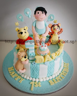 Baking Art By Joey 3d Winnie The Pooh First Birthday