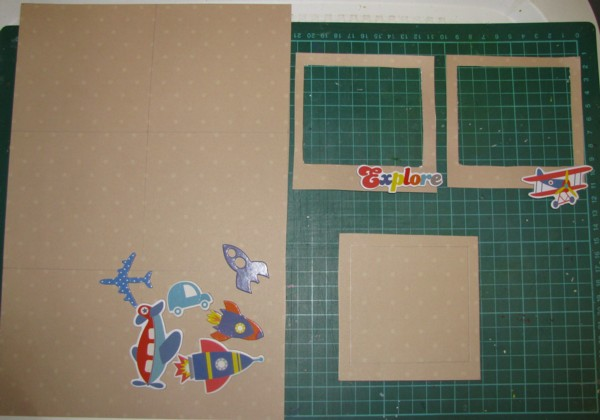 Julene By Design: Home made polaroid frames with transport theme CKC