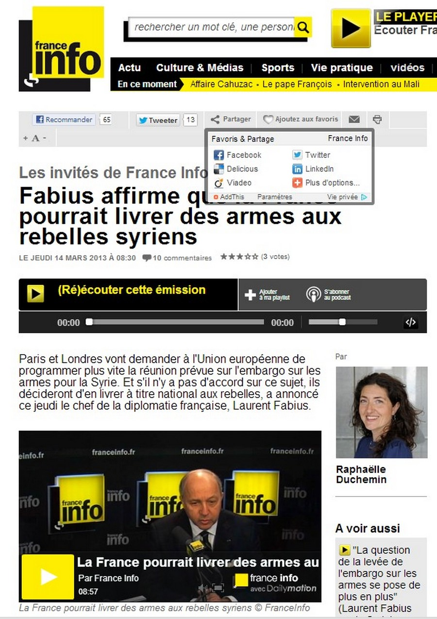 libération, qatar, propagande, syrie, hollande, fake, chimie, chemical, weapon, isis, daech, assad, obama, fabius, ayrault, levy, bernard, henri