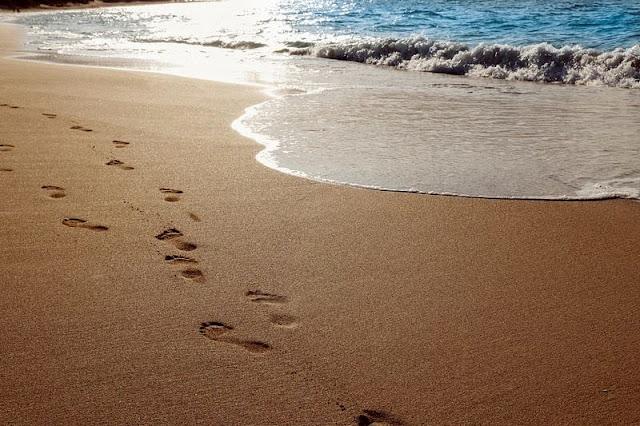 Walking on Hawaii Beach