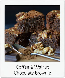 These coffee & walnut brownies are soft, squidgy and punctuated with healthy walnuts.  The classic flavour combination is teamed with lots of delicious chocolate in this brownie recipe.  They're the perfect bake when time is limited and the comfort of chocolate is needed.