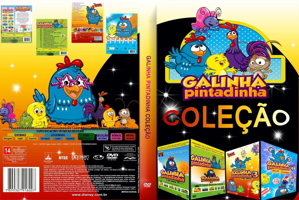 Coleção Galinha Pintadinha Volumes 4x1 DVD-R galinha 2Bpintadinha 2B