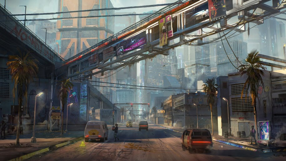 Cyberpunk 2077, City, Concept Art, 4K, #3.2261