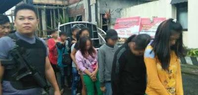 Sedang Pesta Miras, 9 ABG Mabuk Digiring Polisi