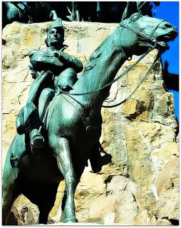 General José de San Martín Estuda a Travessia de Los Andes - Monumento La Patria al Ejército de los Andes, Parque General San Martín, Mendoza