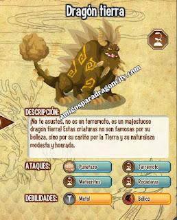 imagen de las debilidades de ahora del dragon tierra