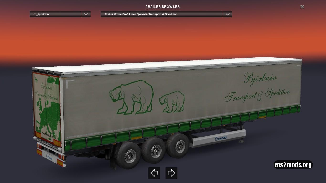 Krone Bjorkwin Transport & Spedition Trailer