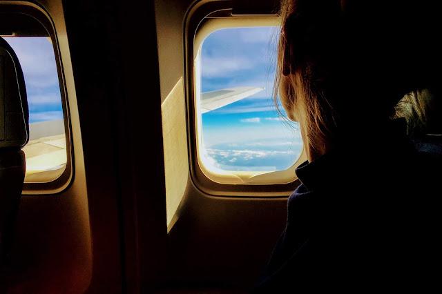 on aeroplane