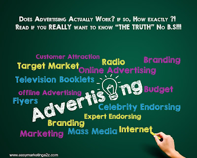 Does Advertising Actually Work ? if so, How exactly ?!