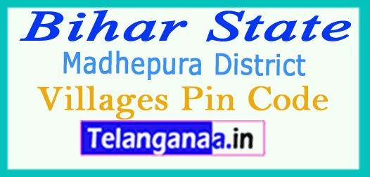 Madhepura District Pin Codes in Bihar State