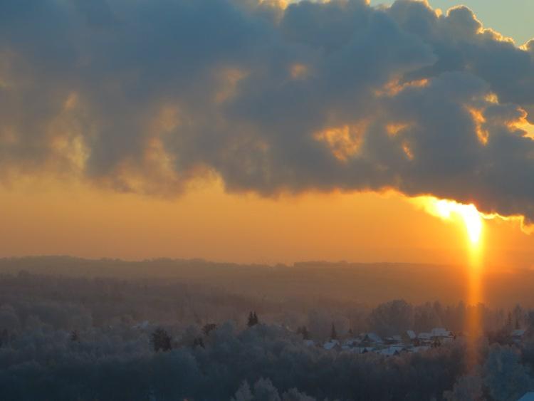 Рассвет с девятого этажа Новосибирск