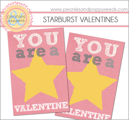 picture about Starburst Valentine Printable identified as The Bingham Diaries: Starburst Valentine Printables