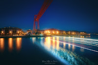 Puente Colgante de noche