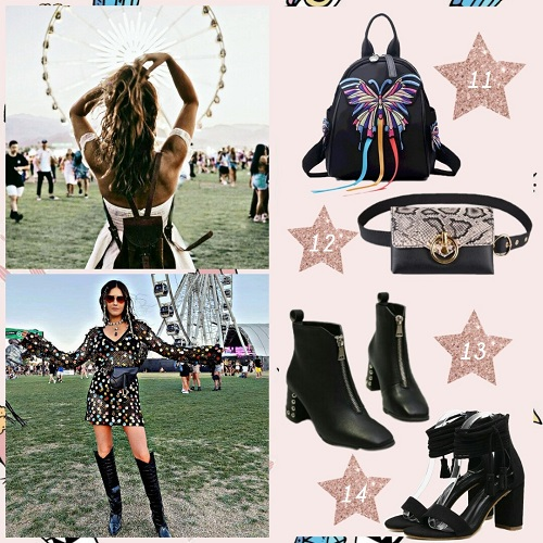 Shoes and bags - Coachella outfits