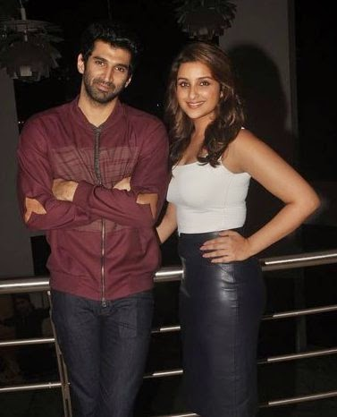 Parineeti Chopra & Aditya Roy Kapur snapped promoting 'Daawat-e-Ishq'