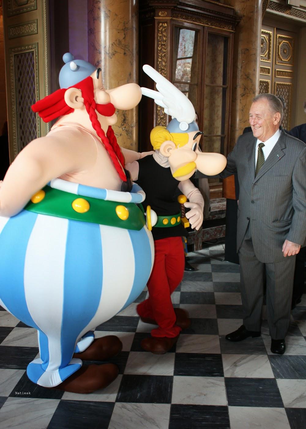 Albert Uderzo avec Astérix et Obélix