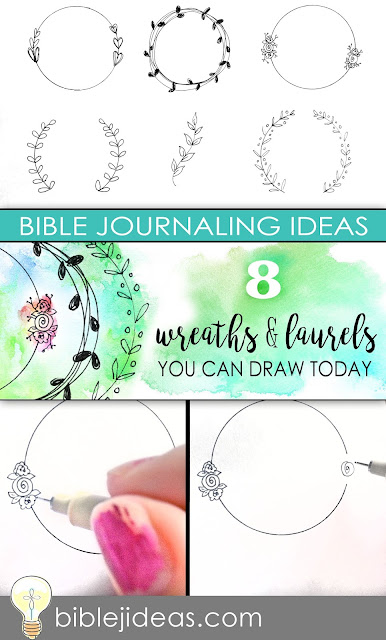 Bible Journaling: 8 Wreaths & Laurels You Can Draw Today