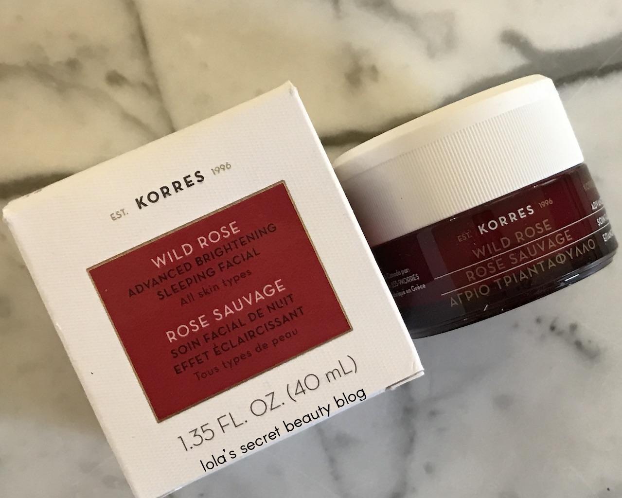 Lumedia Facial Brightener Sample: Lola's Secret Beauty Blog: KORRES Wild Rose Advanced