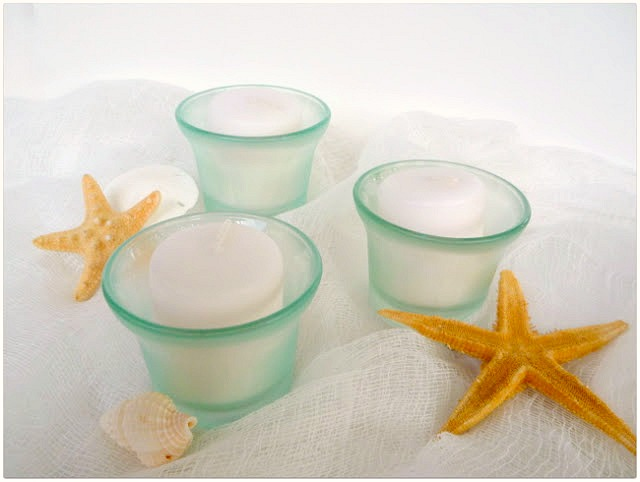 Sea Glass Votive Holders Tutorial by Dana Tatar for Faber-Castell