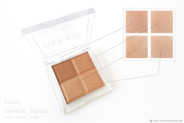 Almay Shadow Squad Eyeshadow 150 Pure Gold, Baby Review Swatches