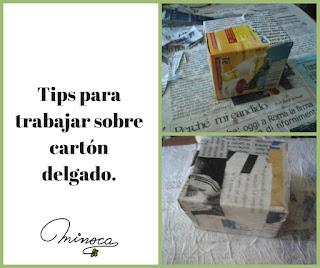 Blog de manualidades. Tips para envases de cartón.