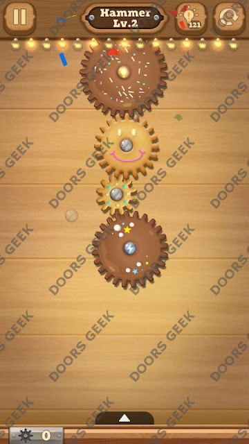 Fix it: Gear Puzzle [Hammer] Level 2 Solution, Cheats, Walkthrough for Android, iPhone, iPad and iPod