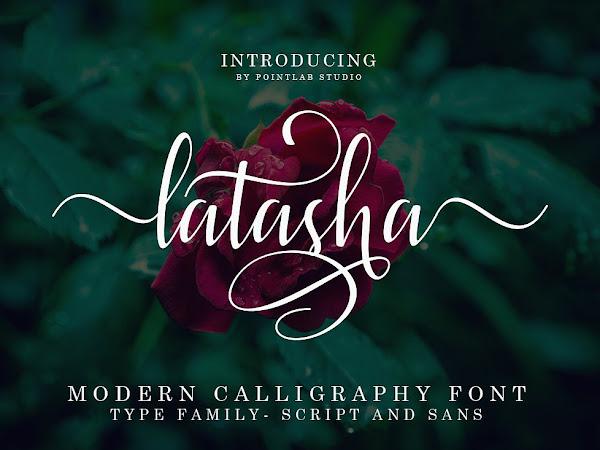 Latasha Script Calligraphy Font Free Download