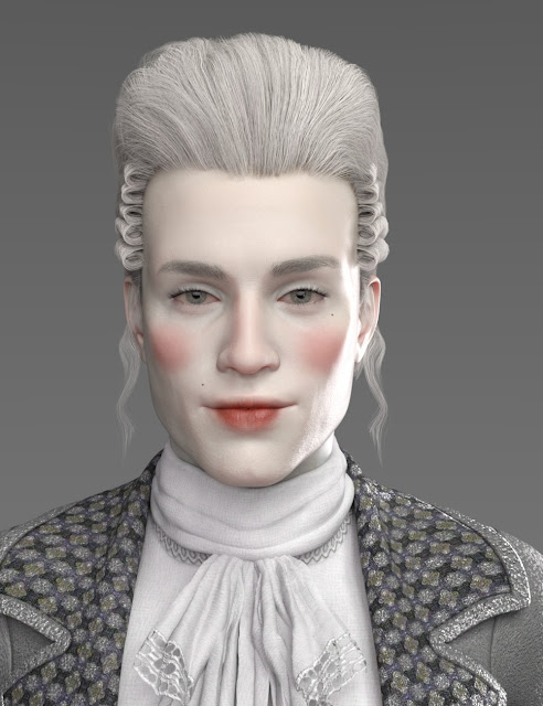 Historical Hair for Genesis 8 and 3 Male