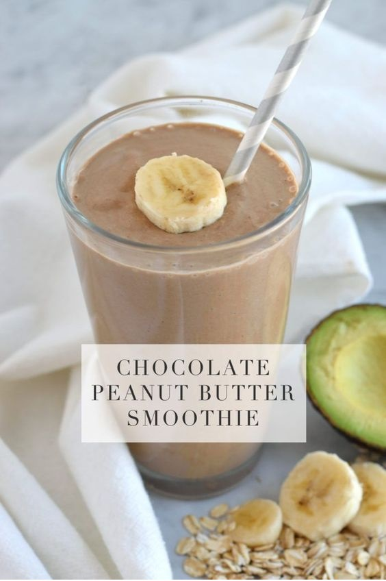Chocolate Peanut Butter Breakfast Smoothie For Moms