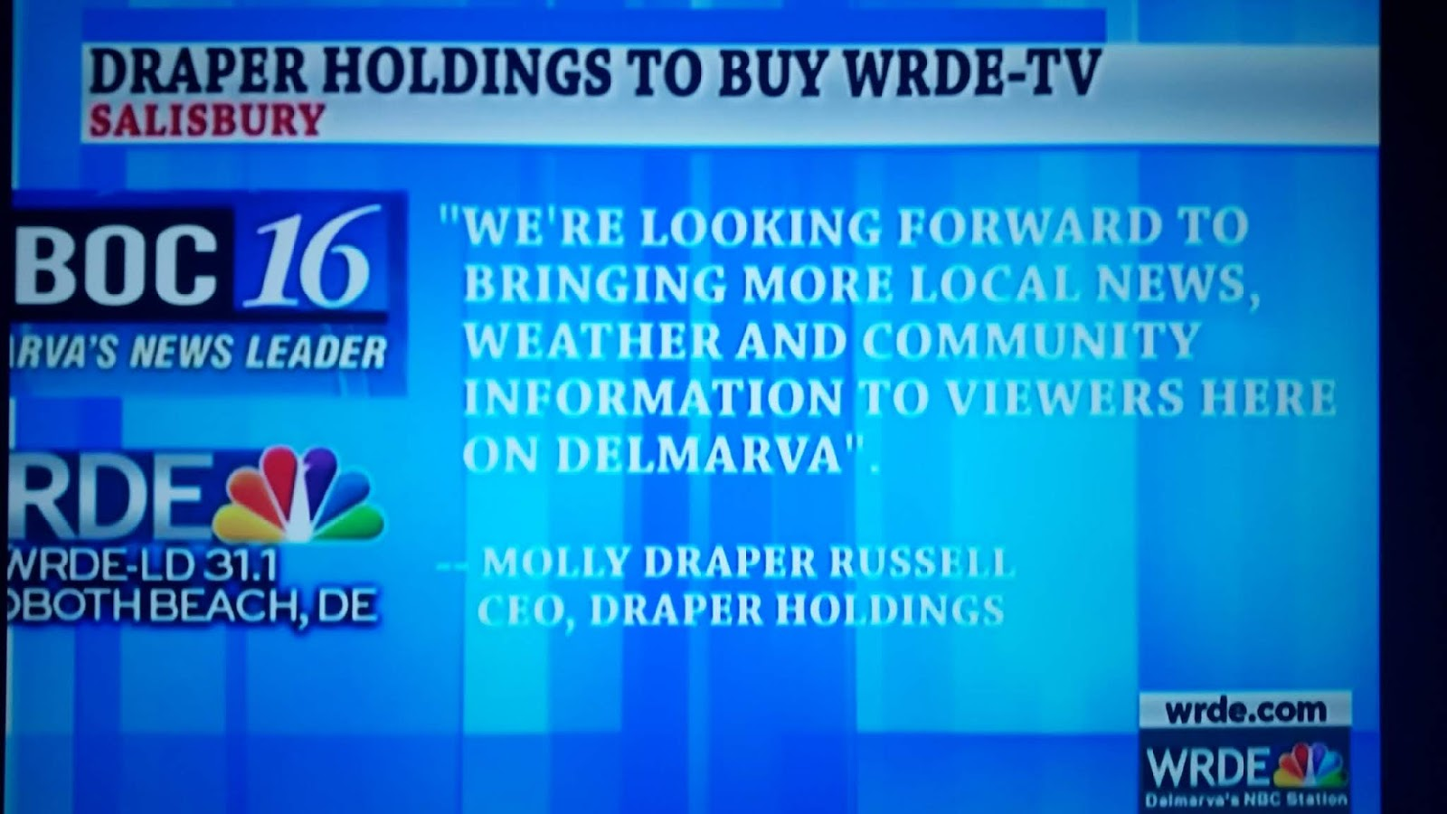 Salisbury News: WRDE Finally Admits They've Been Bought Out