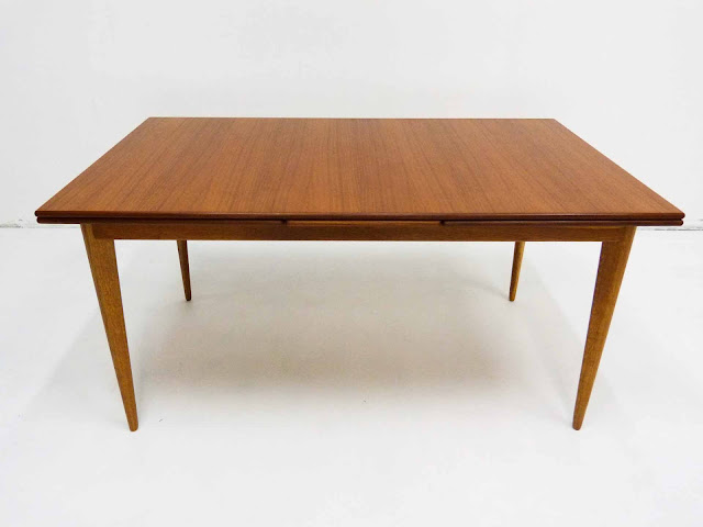J.O. Carlsson Swedish Teak Draw-Leaf Dining Table Front Small