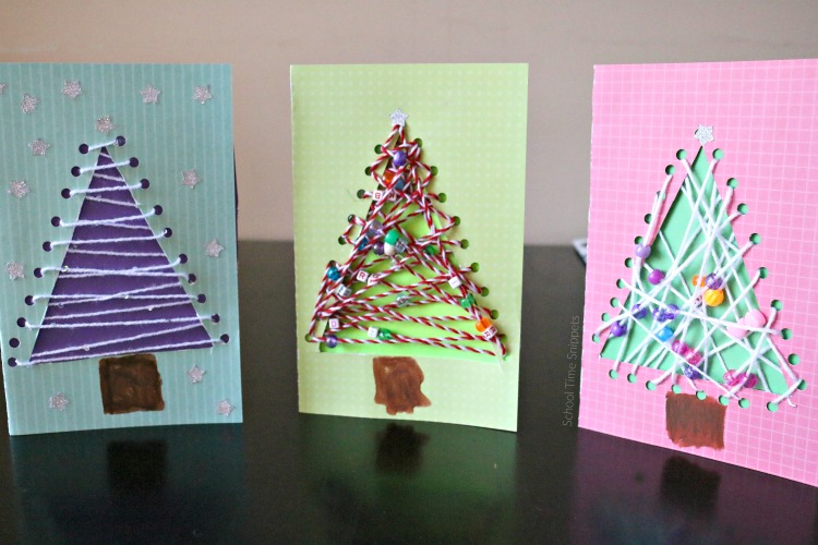 kid made christmas cards
