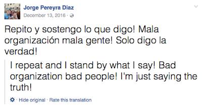 Jorge Pereyra Diaz marah kepada JDT di Facebook
