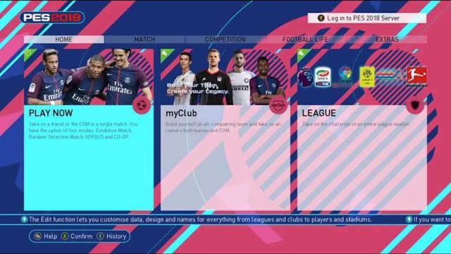 Graphic Menu New Style PES 2018