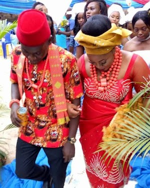 See Beautiful Wedding Outfits Of A Teacher Who Gets Married To His Former Student (Photos)