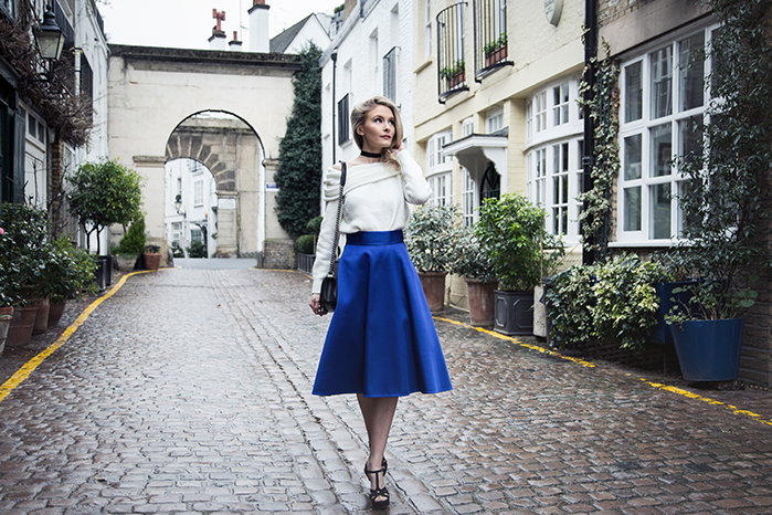 fashion, style, london photoshoot, london mews, coast skirt, kensington photoshoot