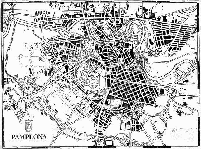 Conectandoeduca tema 21 morfolog a y estructura de las ciudades espa olas plano de pamplona - Pamplona centro historico ...