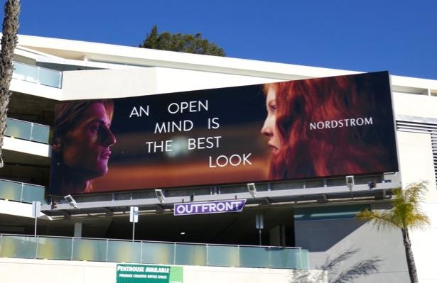 Nordstrom open mind is best look billboard