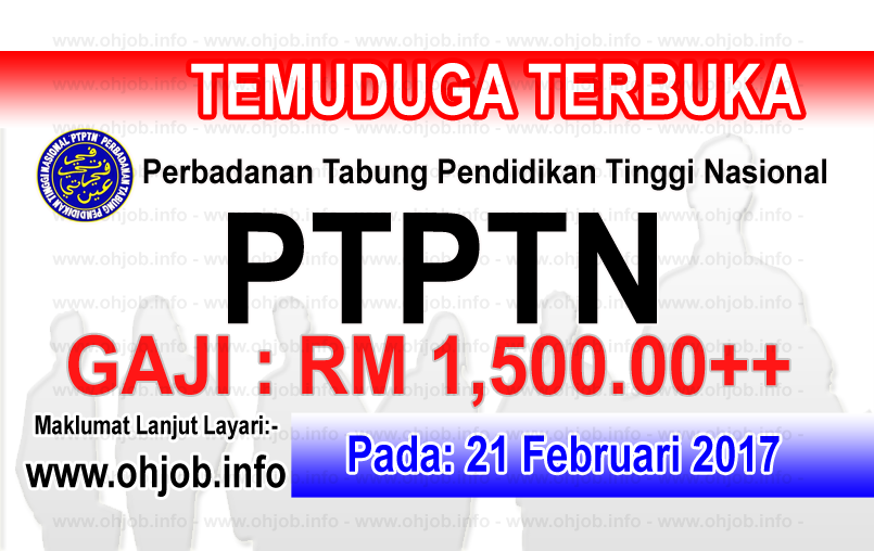 job vacancy at ptptn perbadanan tabung pendidikan tinggi