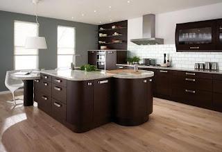 Diseño de cocina marrón