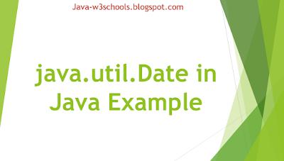 java.util.Date in Java Example