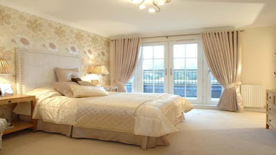 beige bedroom interior design with relaxing paint color ideas