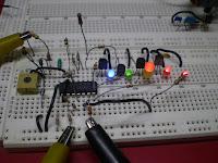 36V Battery Level Indicator Circuit Diagram