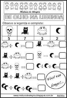 Operações com legendas sobre Halloween
