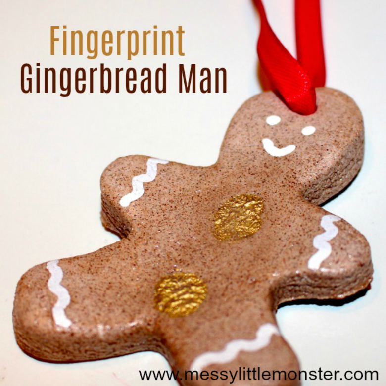 salt dough ornaments - cinnamon salt dough Christmas ornaments - gingerbread man craft